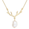 Deer Antler Pearl Necklace Timelessly