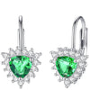 Emerald Drop Earrings Timelessly