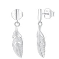 Feather Drop Earrings Timelessly