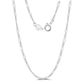 Figaro Chain Silver Necklace Timelessly