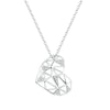 Geometric Heart Necklace Timelessly