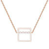 Geometric Moonstone Necklace Timelessly