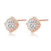Halo Round Cut Stud Earrings Timelessly
