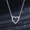 Heart Pavé Necklace Timelessly