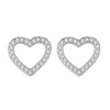 Heart Stud Earrings Timelessly