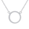 Hollow Circle Necklace Timelessly