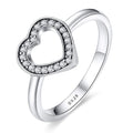 Hollow Heart Ring Timelessly