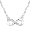 Infinity Pave Necklace Timelessly