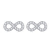 Infinity Pavé Stud Earrings Timelessly