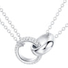 Interlocking Rings Necklace Timelessly