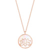 Lotus Flower Round Necklace Timelessly