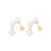 Multi Pearl Stud Earrings Timelessly
