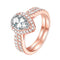 Pear Cut Set Ring Timelessly