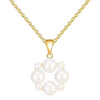 Pearl Circle Necklace Timelessly