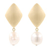 Rhombus Pearl Earrings Timelessly