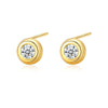 Round Bezel Stud Earrings Timelessly