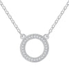 Round Circle Necklace Timelessly