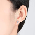 Round Cut Stud Earrings Timelessly