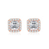 Square Halo Stud Earrings Timelessly