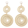 Swirl Circle Drop Earrings Timelessly