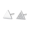 Triangle Pavé Stud Earrings Timelessly