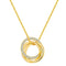Trio Circle Necklace Timelessly
