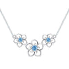 Trio Flower Necklace Timelessly
