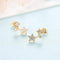 Trio Stars Stud Earrings Timelessly