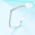 Wave Pavé Stackable Ring Timelessly
