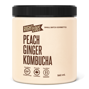 Peach Ginger Kombucha Sorbetto