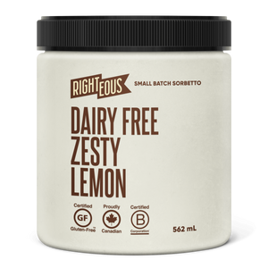 Pint of Righteous Dairy Free Zesty Lemon sorbetto
