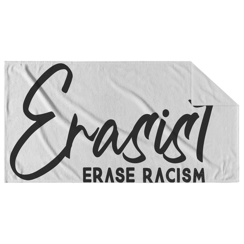 Erasist™ Logo ERASE RACISM Beach Towel - Erasist | Erase The Hate