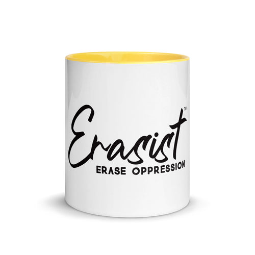 Erasist™ Logo ERASE OPPRESSION Mug with Color Inside - Erasist | Erase The Hate