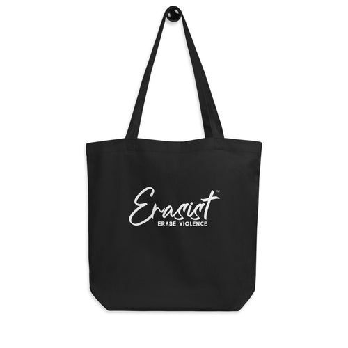 Erasist™ Logo ERASE VIOLENCE Eco Tote Bag - Erasist | Erase The Hate