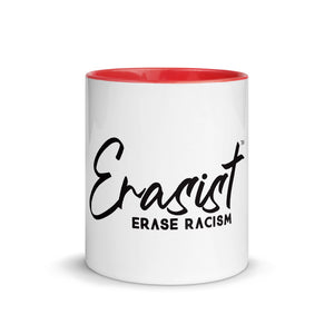 Erasist™ Logo ERASE RACISM Mug with Color Inside - Erasist | Erase The Hate