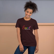 Load image into Gallery viewer, Erasist™ Pride Logo ERASE THE HATE Short Sleeve Premium Unisex Tee Sizes M - L
