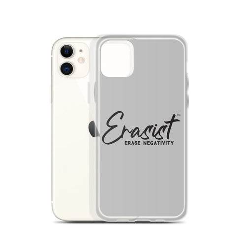 Erasist™ Logo ERASE NEGATIVITY iPhone Case - Erasist | Erase The Hate