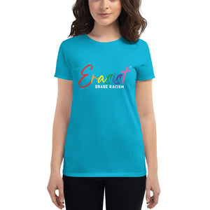 Women's Erasist™ Pride Logo ERASE RACISM Short Sleeve - Erasist | Erase The Hate