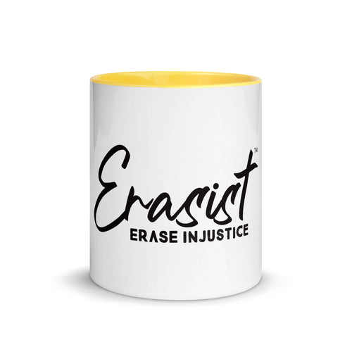 Erasist™ Logo ERASE INJUSTICE Mug with Color Inside - Erasist | Erase The Hate