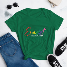 Load image into Gallery viewer, Women's Erasist™ Pride Logo ERASE RACISM Short Sleeve - Erasist | Erase The Hate