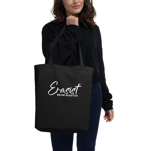 Erasist™ Logo ERASE INJUSTICE Eco Tote Bag - Erasist | Erase The Hate