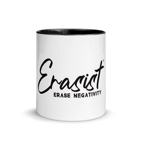 Erasist™ Logo ERASE NEGATIVITY Mug with Color Inside - Erasist | Erase The Hate