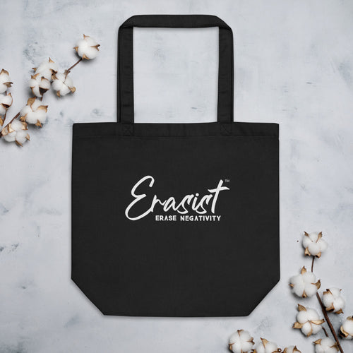 Erasist™ Logo ERASE NEGATIVITY Eco Tote Bag - Erasist | Erase The Hate