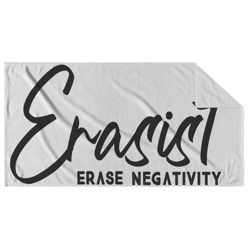 Erasist™ Logo ERASE NEGATIVITY Beach Towel - Erasist | Erase The Hate