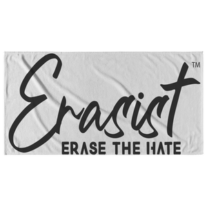 Erasist™ Logo ERASE THE HATE Beach Towel - Erasist | Erase The Hate