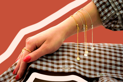 How to Dress Up (or Down) Gingham with Jewelry