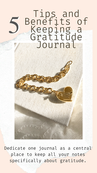 Shown here: Our Heart + Arrow Bracelet can store your personal notes of gratitude.