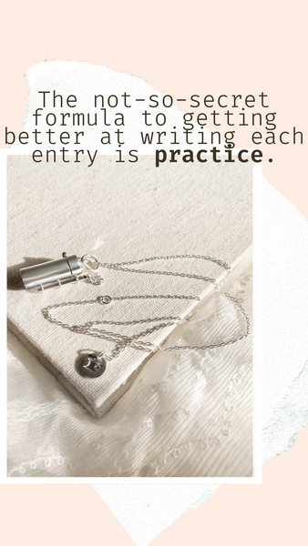Shown here: Our Capsule + Wand Locket can store your personal notes of gratitude.