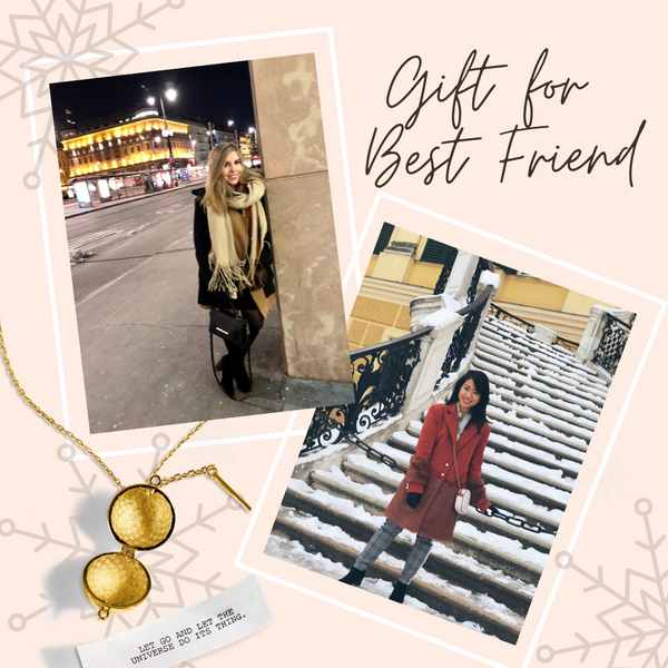 Shown here: Our Sphere + Wand Locket, a perfect holiday gift for your best friend.