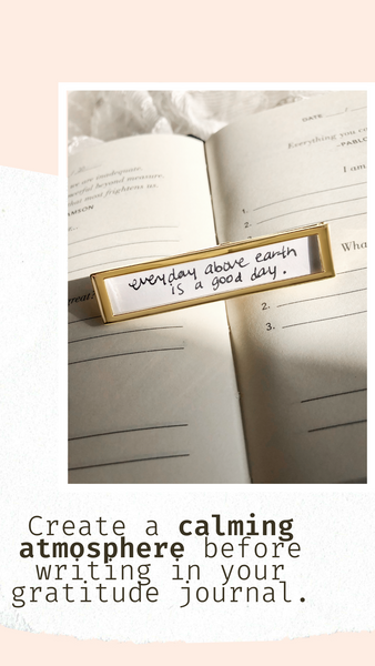 Shown here: Our Fortune Frame can store your personal notes of gratitude.